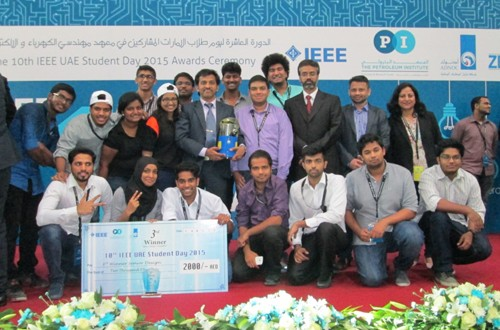 ECE students won 3rd Prize in IEEE UAE Students Day Competition