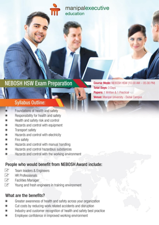 MEE-SoEIT Organise Professional Development Course on 'NEBOSH HSW